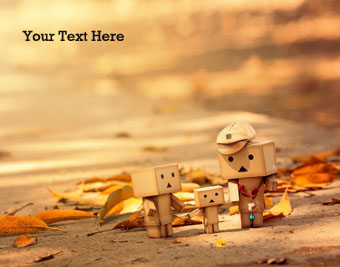 Danbo Family Love quote pictures
