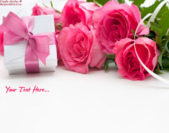 Gift And Flowers For You quote pictures