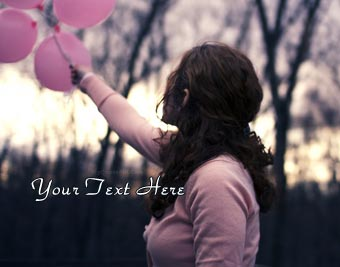 Girl Holding Baloons quote pictures