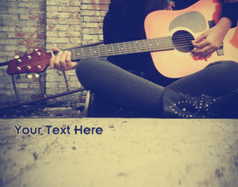 Girl Playing Guitar quote pictures