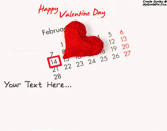Happy Valentine Day 14 February 2015 quote pictures