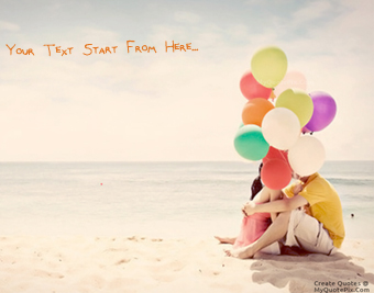 Lovely Couple With Balloons quote pictures