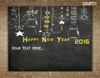 New Year 2016 Wish Cards quote pictures