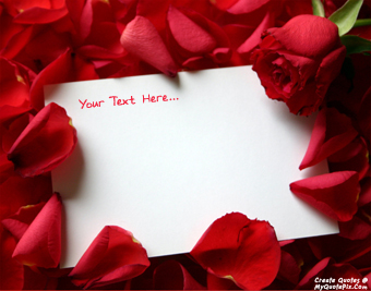 Red Roses Love Note quote pictures