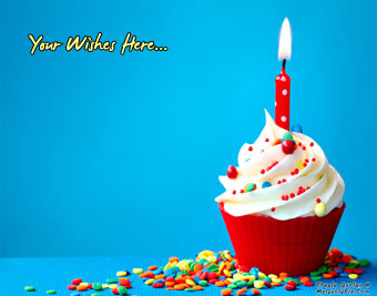Wish Birthday With Cupcake quote pictures