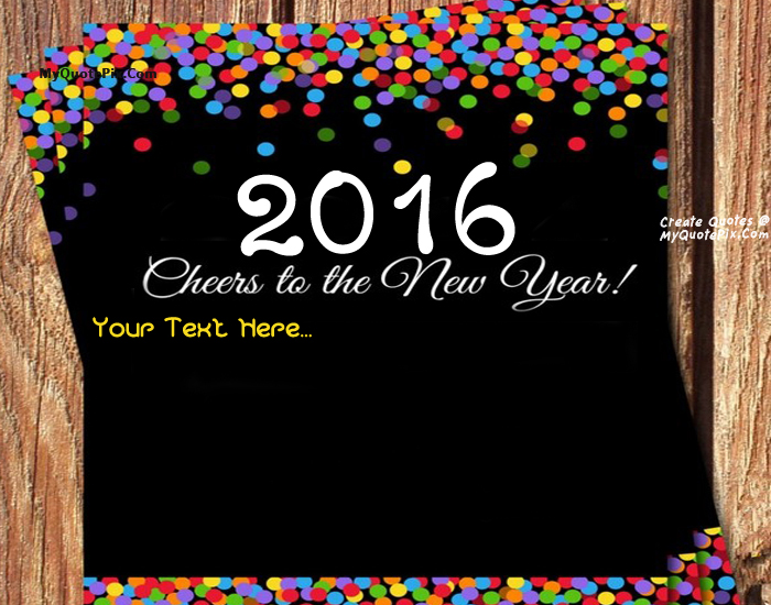 Design your own names of Welcome 2016 Happy New Year