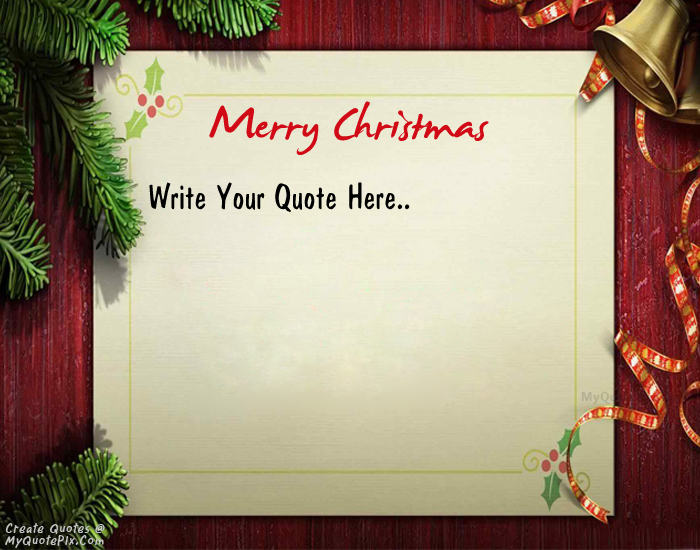 Design your own names of Wish Card Of Merry Christmas
