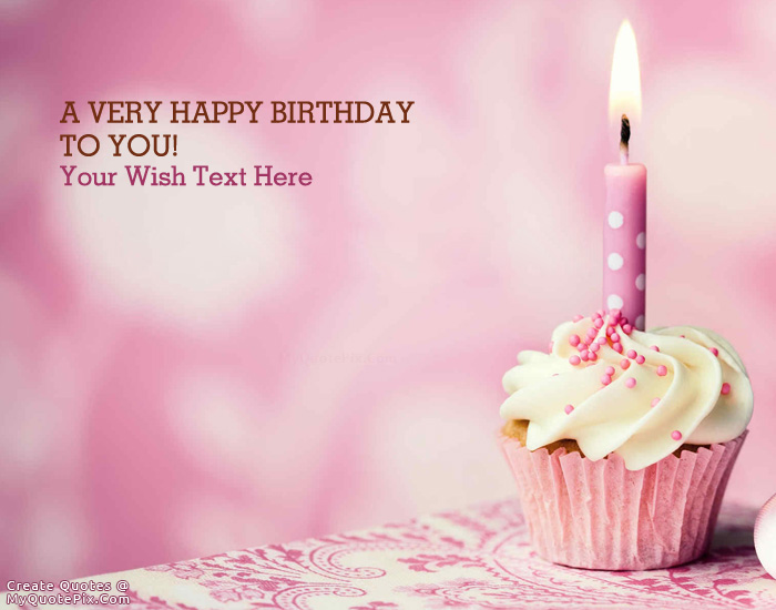 Design your own names of Wish You Happy Birthday