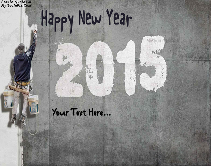 Design your own names of Wishes Happy New Year 2015
